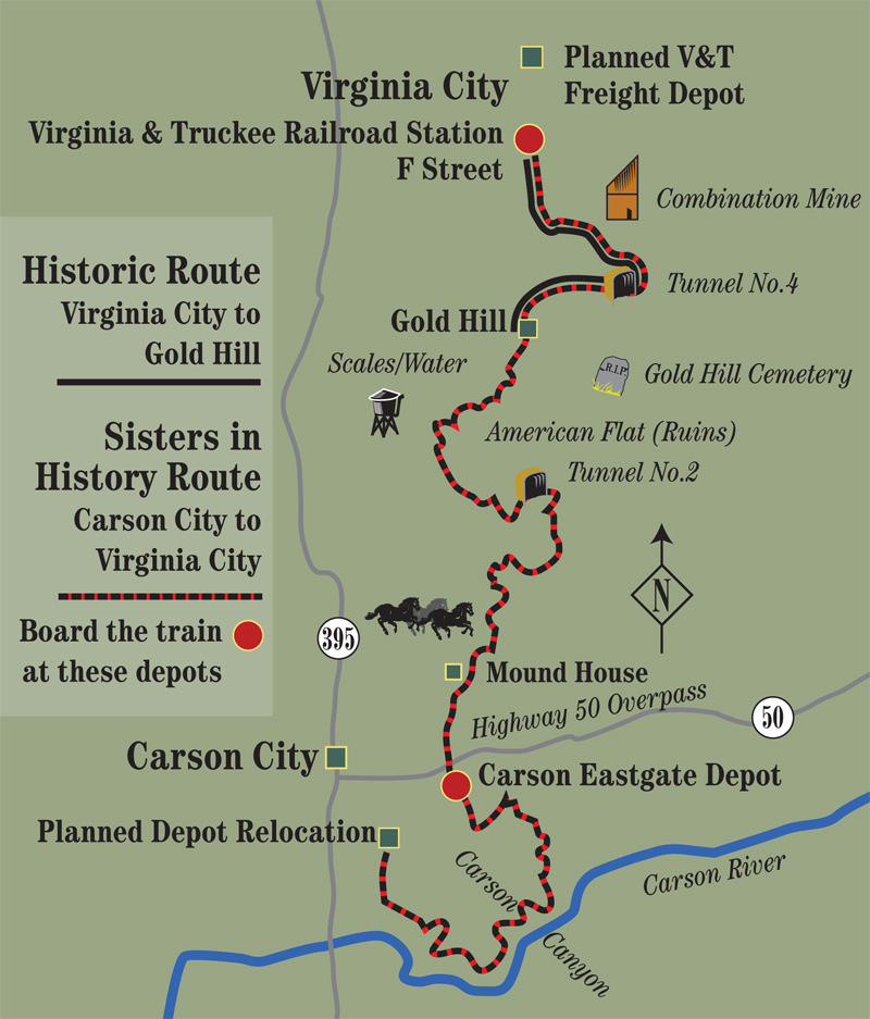 Virginia and Truckee Route Map Photo Details Photos From Around